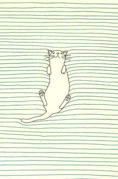 art and illustration cat sleeping drawing Art And Illustration, Cat Illustrations, Art Design, Graphic Design, Art Graphique, Cat Drawing, Drawing Ideas, Art Plastique, Oeuvre D'art