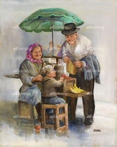 Dianne Dengel ~ The Little Fruit Trader The Finest Hours, Rain Painting, Old Folks, Umbrellas Parasols, Popular Artists, Sweet Pic, Paintings I Love, Artist Art, Love Art
