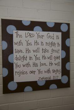 Bible verse as wall art, good reminder!