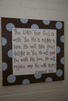 Bible verse as wall art, good reminder!