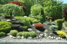 Best Rock Garden Landscaping Ideas Japanese Rock Garden Designs Rock Lawn Ideas Landscaping Ideas - landscaping concepts is for an exterior home which bene Hillside Landscaping, Landscaping With Rocks, Front Yard Landscaping, Landscaping Ideas, Hillside Garden, Rock Garden Design, Small Garden Design, Garden Ideas Without Grass, Small Front Gardens