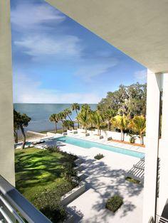 modern beach house pool