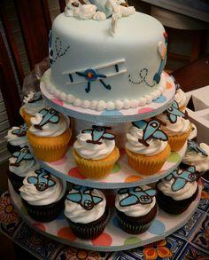 Baby aviator cake — Baby Shower