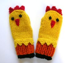 Hey, I found this really awesome Etsy listing at https://www.etsy.com/listing/215313512/chicken-mittens-hand-knit-farm-animal