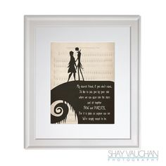 The Nightmare Before Christmas Art Jack And Sally My Dearest Friend Quote Print Wedding Decor Wall Poster Fine Gift No254