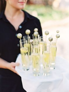 Gold Sparkly Drink Stirrers | Gold Glitter | Danielle Poff Photography