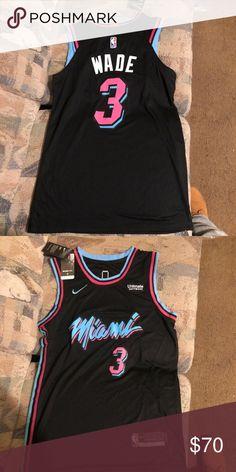 8327f732d7f Nike NBA Miami Heat city jersey Dwyane Wade size S Brand new Nike NBA Miami  Heat Dwyane Wade city jersey size small Nike Shirts Tank Tops