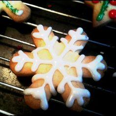 snowflake cookie.