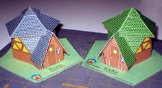 Icosahedron Chalet Paper Model - by Bovee Graphics  ==    This paper model is a replica of a real chalet built by designer Ray Bovee, from Bovee Graphics website.