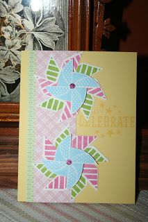 card by Wanda Riley using CTMH Chantilly paper