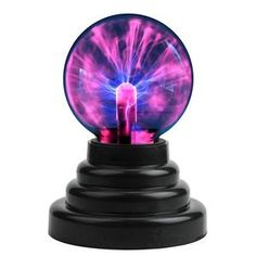 CozyCabin Plasma Ball Light Thunder Lightning Plug-In Touch Sensitive - USB or Battery Powered For Parties Decorations - Black - & Lighting, Indoor Lighting, Night Lights # #