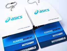 Asics Sportswear hangtag designs