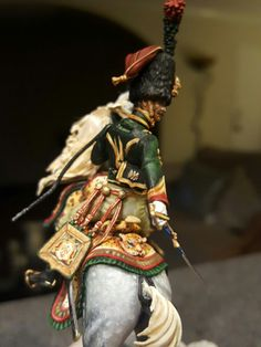 54mm Charging Chasseur  Napoleonic Calvary officer. Custom Diorama by S.Turner