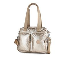 160928 - Kipling Kotecha Premium Large Two Handled Bag & Crossbody Strap - QVC PRICE: £83.00 + P&P: £5.95 Select option: GOLD METAL This large Kotecha bag from Kipling features two handles and an adjustable cross-body strap, plus zipped outer pocket compartments to keep you organised. Perfect for carrying all your essentials, this lovely Kipling bag is sure to become your new everyday handbag hero.