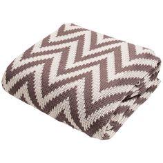 Jaipur Serin Chevron Brown Cotton Throw Blanket - Style # 9H875