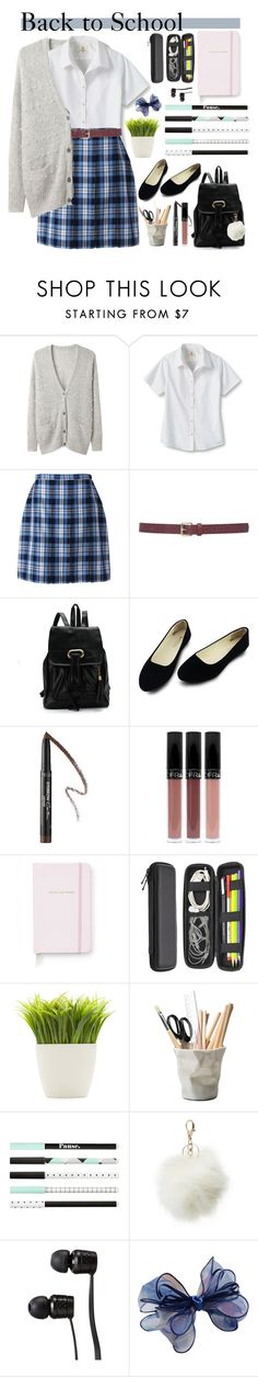 """Back to school style"" by mlka ❤ liked on Polyvore featuring Band of Outsiders, Lands' End, M&Co, Givenchy, Kate Spade, Fountain, Dot & Bo, ESSEY, Charlotte Russe and Vans"