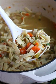 Turkey Noodle Soup is just like a classic chicken noodle soup but made with leftover turkey, it's nourishing, filling and a family favorite. Turkey Noodle Soup, Chicken Noodle Soup, Easy Recipes, Soup Recipes, Healthy Recipes, Family Recipes, Family Meals, Leftover Turkey, Leftovers Recipes