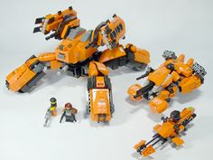 Orange Lego Robot Unit