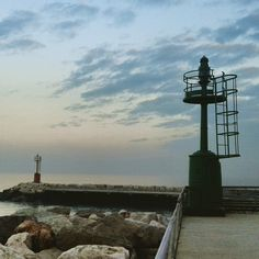 Lighthouses at the harbor of Cattolica, that marks the border of 2 Italian regions EmiliaRomagna and Marche - Instagram by antesignumtours
