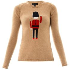 BURBERRY PRORSUM Queen's Guard intarsia-knit sweater (750 CAD) ❤ liked on Polyvore