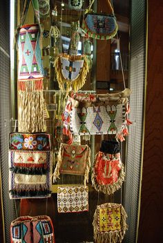 How cool would a wall of beaded and quilled purses be!?. lol! Colter Bay