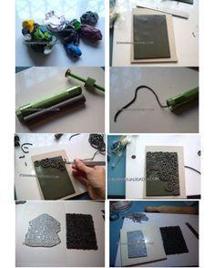 Técnicas para realizar tus propias texturas en la arcilla plimérica