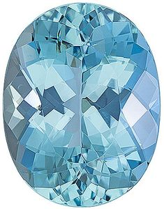 Fine GEM Stunning Color & Cut in Aquamarine Gemstone, Oval Cut, 7.35 carats