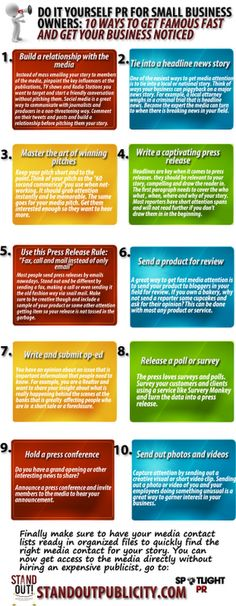 Do it Yourself PR #Infographic By @Christina Childress Childress Childress Rowe of  www.StandoutPublicity.com  - epublicitypr.com