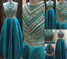 2 Piece Prom Gown,Two Piece Prom Dresses,Simple Evening Gowns,2 Pieces Party Dresses,Sexy Evening Gowns,Sparkle Formal Dress For Teens