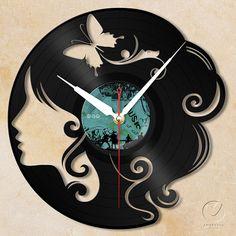 vinyl wall clock  girl by Anantalo on Etsy, ฿1100.00