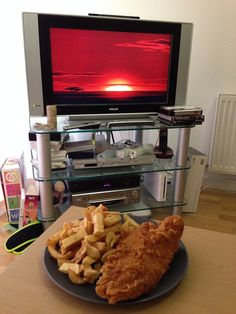 Celebrating day 100 of #100happydays with fish and chips and The Lion King.