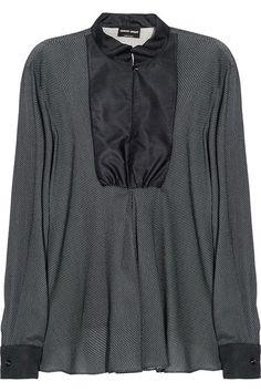 Giorgio Armani Polka-dot silk blouse