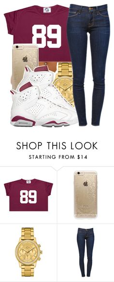 * by princess-kia54321 on Polyvore featuring Frame Denim, Lacoste and Rifle Paper Co