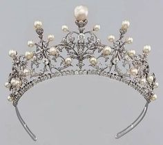 Vintage Pearl and Diamond Tiara.