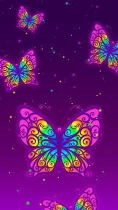 Open Fonts, Butterfly Wallpaper, Pattern Wallpaper, Neon, Animation, Creative, Wallpaper Patterns, Neon Colors, Animation Movies