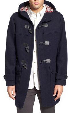 $329, Ben Sherman Wool Blend Duffle Coat. Sold by Nordstrom. Click for more info: https://lookastic.com/men/shop_items/370453/redirect