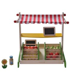 Kids Wooden Toys|EverEarth Fruit and Vegetable Stand|Lime Tree Kids