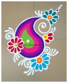 51 Diwali Rangoli Designs Simple and Beautiful Easy Rangoli Patterns, Easy Rangoli Designs Diwali, Rangoli Simple, Indian Rangoli Designs, Rangoli Designs Latest, Simple Rangoli Designs Images, Rangoli Colours, Rangoli Designs Flower, Free Hand Rangoli Design