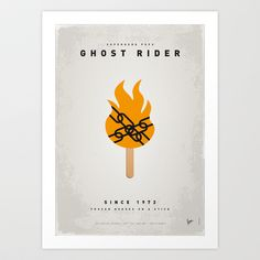 My SUPERHERO ICE POP - Ghost Rider Art Print by Chungkong - $18.00