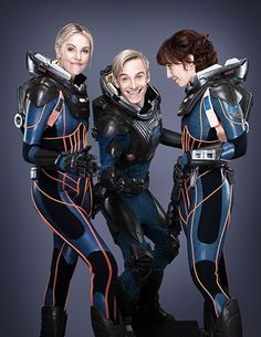 Prometheus promo shoot (Charlize Theron, Michael Fassbinder and Noomi Rapace).