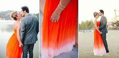 ¿Te atreves con un vestido de novia de color?