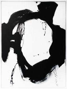 "Black & White #50, 2016, acrylic, 48"" x 36"" (121.9 x 91.4 cm)"