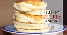 Fluffy, Fluffy Pancakes - A fluffy pancake recipe like no other! Make perfect p. - Fluffy, Fluffy Pancakes – A fluffy pancake recipe like no other! Make perfect pancakes at home w - Brunch Recipes, Gourmet Recipes, Breakfast Recipes, Dessert Recipes, Cooking Recipes, Pancake Recipes, Small Batch Pancake Recipe, Perfect Pancake Recipe, Cooking Ribs