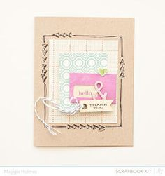Hello & Thank You Card  by maggie holmes at Studio Calico - March Kits