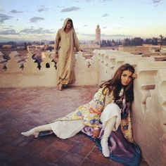 We're totally in vacation mode with #fashion #tbt of #TalithaGetty in #morocco. #cavandotcom #style