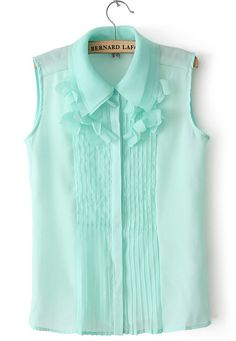 Ruched Front Chiffon Blouse                                                                                                                                                                                 More