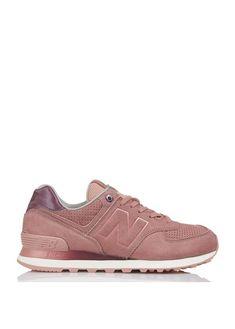e591b019a99 New balance 574 en daim 13 ry dusted peach new balance - femme. Nouvelle  Collection ...