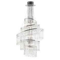 Camille 24-Light Crystal Chandelier Hallway Chandelier, Barn Lighting, Kingston, House Ideas, Ceiling Lights, Crystals, Home Decor, Interior Design
