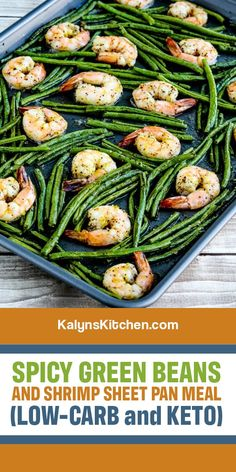 Shrimp And Green Beans, Spicy Green Beans, Roasted Green Beans, Quick Recipes, Cooking Recipes, Healthy Recipes, Clean Eating, Healthy Eating, Seafood Recipes