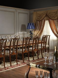 Dining Room In Wood And Crystal  Luxury Dining Rooms Furniture Cool Classic Dining Rooms 2018